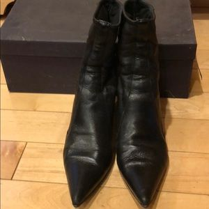 Woman Prada boots, black leather
